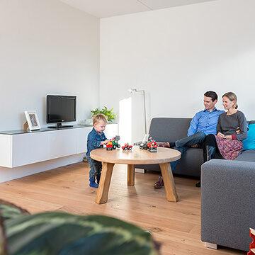 kleinschalig nieuwbouw project Epse - woonkamer