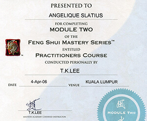Feng Shui Mastery Series certification - Angelique-Slatius